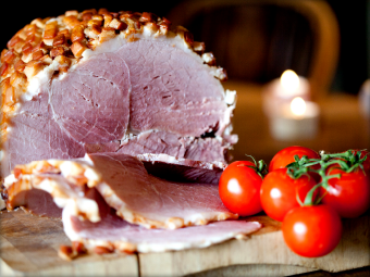 Photograph of cured meat